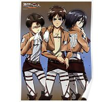 levi x eren poster. Black Bedroom Furniture Sets. Home Design Ideas