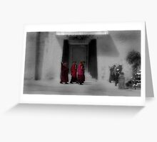 tibetan monks Greeting Card