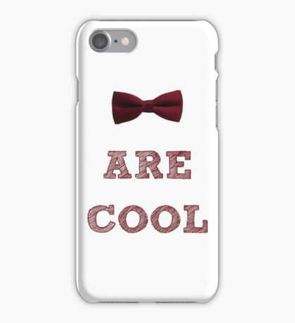 Doctor Who - Bow Ties are cool #1 iPhone Case/Skin