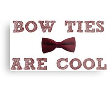 Doctor Who - Bow Ties are cool #1 Metal Print