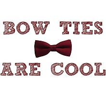Doctor Who - Bow Ties are cool #1 Photographic Print