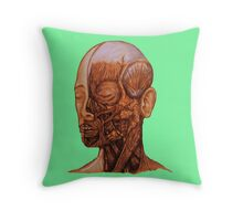 Anatomical Head and Neck dissection Throw Pillow