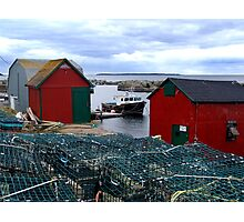 Tiny Harbour at Blue Rocks Photographic Print