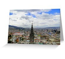 Quito Skyline II Greeting Card