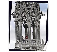 Rear Spire, Basilica del Voto Nacional, Quito, Ecuador Poster