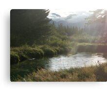 Bow River, Banff Canvas Print