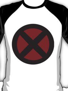 black/red X-men logo T-Shirt