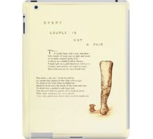 Old Proverbs with New Pictures Lizzie Laweson and Clara Mateaux 1881 0051 Every Couple is Not a Pair iPad Case/Skin