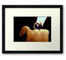 Macro Candle Framed Print