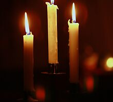Candles in the dark.. by Gary Boudreau