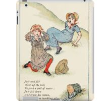 Mother Goose or the Old Nursery Rhymes by Kate Greenaway 1881 0027 Jack and Jill iPad Case/Skin