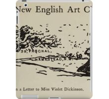 Kate Greenaway Collection 1905 0443 On a Letter to Miss Violet Dickinson iPad Case/Skin