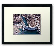 Hoover Dam By Helicopter Framed Print