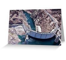 Hoover Dam By Helicopter Greeting Card