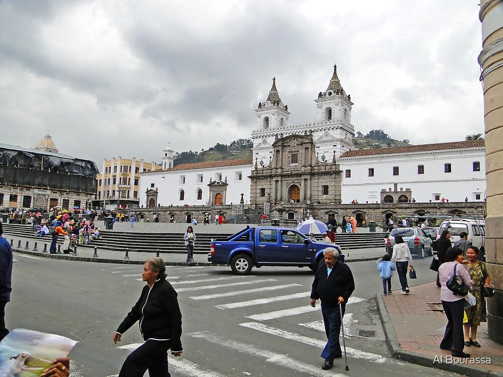Plaza de San Francisco, Quito, Ecuador by Al Bourassa