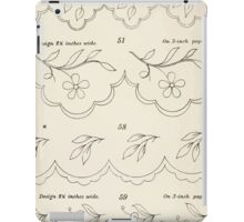 Briggs & Company Patent Transferring Papers Kate Greenaway 1886 0014 Floral iPad Case/Skin
