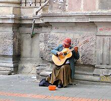 Quito Street Musician by Al Bourassa