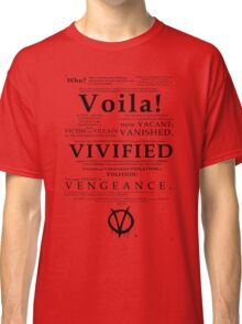 V For Vendetta Pentalogue Classic T-Shirt