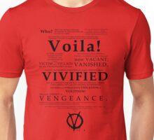 V For Vendetta Pentalogue Unisex T-Shirt