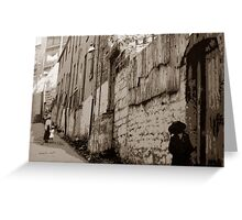 Brown Bear Lane, The Rocks, Sydney, NSW, Australia Greeting Card