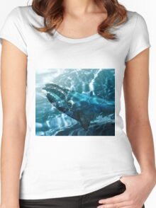 Southern Right Whale Women's Fitted Scoop T-Shirt