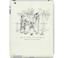 De Lebris Prose and Verse Tomson Hugh and Kate Greenaway 1909 0114 The Library iPad Case/Skin