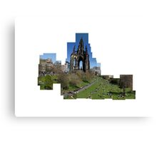 Scott Monument Montage   Canvas Print