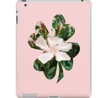 pink flower through glass blocks iPad Case/Skin