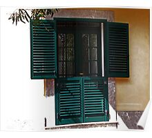 Double Shutters - Taormina, Sicily Poster