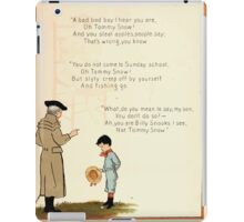The Glad Year Round for Boys and Girls by Almira George Plympton and Kate Greenaway 1882 0033 Tommy Snow Steal Apples iPad Case/Skin