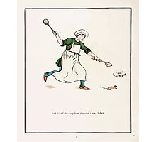 The Pied Piper of Hamlin Robert Browning art Kate Greenaway 0011 Licked the Soup Ladels Photographic Print