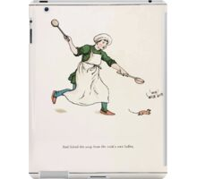 The Pied Piper of Hamlin Robert Browning art Kate Greenaway 0011 Licked the Soup Ladels iPad Case/Skin