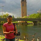 Mom by the river by awsmgrl
