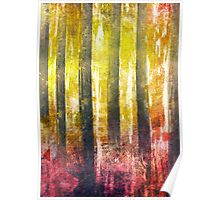 Abstract Print 18 / trees Poster