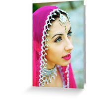 Beautiful Bollywood Dancer Greeting Card