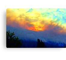 """Mountain Forest Fire"" Canvas Print"