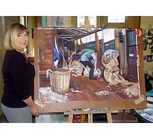 The Artist and the Painting - The Tarcombe Clip Photographic Print