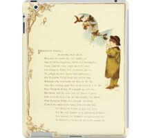 Old Proverbs with New Pictures Lizzie Laweson and Clara Mateaux 1881 0023 Peregrine Pickle iPad Case/Skin