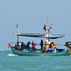 Traditional fishing boat, Thailand by johnrf