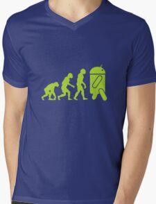 Android Evolution Mens V-Neck T-Shirt