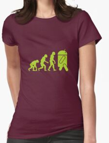 Android Evolution Womens Fitted T-Shirt