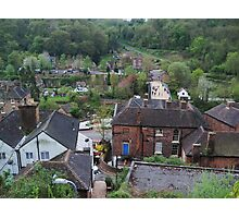 Ironbridge town Shropshire Photographic Print