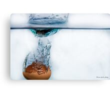 Freezing time; The egg and the water. Canvas Print