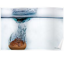 Freezing time; The egg and the water. Poster