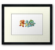 Pokemon - starter 1st gen Framed Print