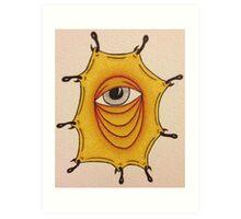Tired eye Art Print