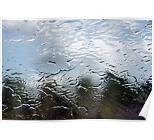 Water on windshield Poster