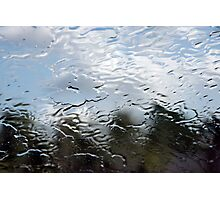 Water on windshield Photographic Print