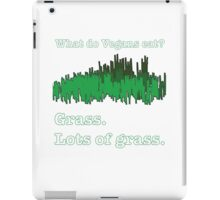 Vegans Eat Grass iPad Case/Skin