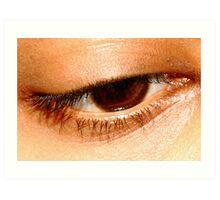 Beauty in her eyes. Art Print
